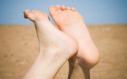 Kids barefoot legs Royalty Free Stock Image