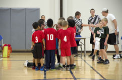 Kids basketball coaching Stock Photography