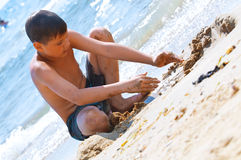Kids at the beach Royalty Free Stock Photography