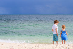 Kids on the beach Royalty Free Stock Photo