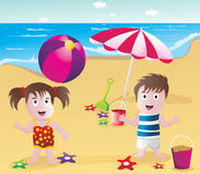 Kids in the beach  Royalty Free Stock Photography