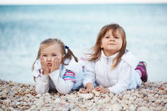 Kids at the beach Stock Images