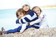 Kids at the beach Stock Image