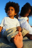 Kids On The Beach royalty free stock photos