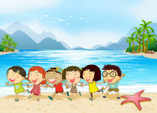 Kids at the beach Royalty Free Stock Photo