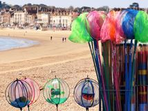 Kids Fishing Nets Essentials. Weymouth beach front ...... fishing nets for kids with those inquisitive nature loving minds Royalty Free Stock Photos