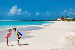Kids at beach Royalty Free Stock Images
