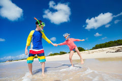 Kids at beach Royalty Free Stock Photo