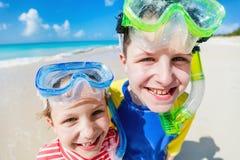 Kids at beach Royalty Free Stock Photos