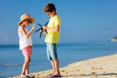 Kids at beach Stock Photos