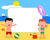 Kids & Beach Photo Frame [1] Stock Photography