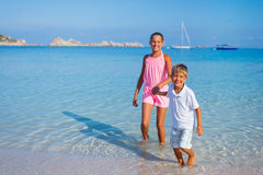 Kids on the beach Royalty Free Stock Images