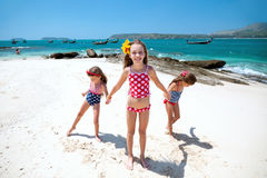 Kids at the beach Stock Photography