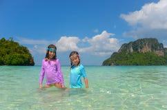 Kids on beach vacation Stock Image