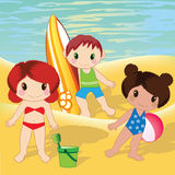 Kids on beach Royalty Free Stock Image