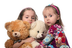 Kids and bears Stock Images