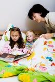 Kids in bedroom Stock Photo