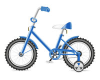 Kids bicycle for a boy  illustration Stock Photos