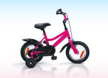Kids bicycle isolated Stock Image