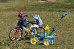 Kids bicycles Royalty Free Stock Images