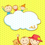 Kids in Birthday Background Royalty Free Stock Photography