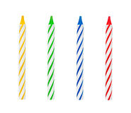 Kids birthday candles Stock Images