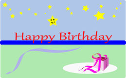 Kids birthday. Card with the greeting  - Happy Birthday Royalty Free Stock Image