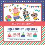 Kids birthday invitation card Stock Photo