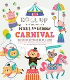 Kids birthday invitation card Royalty Free Stock Photo