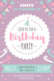 Kids birthday invitation Stock Photos