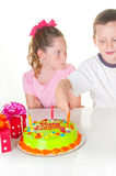 Kids at birthday party Stock Photo