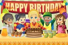 Kids birthday party royalty free illustration