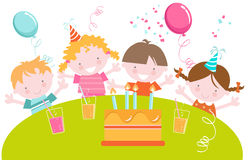 Kids Birthday Party Stock Photos