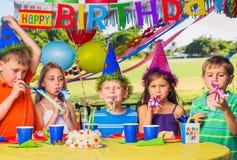 Kids at Birthday Party Stock Photo