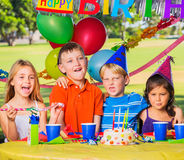 Kids at Birthday Party Royalty Free Stock Photo