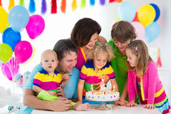 Kids birthday party Stock Image