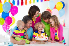 Kids birthday party Stock Images