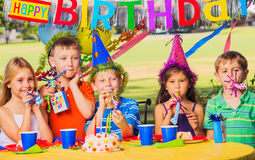 Kids Birthday Party Stock Image