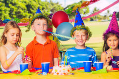 Kids Birthday Party Royalty Free Stock Photo
