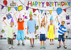 Kids Birthday Party. With Illustration Royalty Free Stock Image