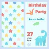 Kids birthday party invitation royalty free illustration