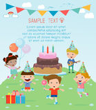Kids in a Birthday Party, Kids Party, birthday celebration, birthday party for kids Royalty Free Stock Photos