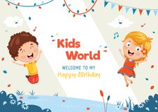 Kids Birthday Template Vector Illustration. Eps 10 Royalty Free Stock Photography