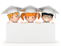 Kids and blankboard Royalty Free Stock Photos