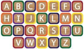 Kids Blocks Alphabet Stock Images