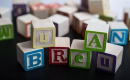Kids blocks with the word Bureau royalty free stock photography