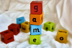 Kids blocks game Stock Photography