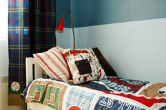 Kids blue bedroom Stock Image