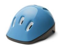 Kids Blue Bike Helmet Royalty Free Stock Photography