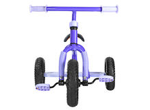 Kids blue tricycle Stock Photography